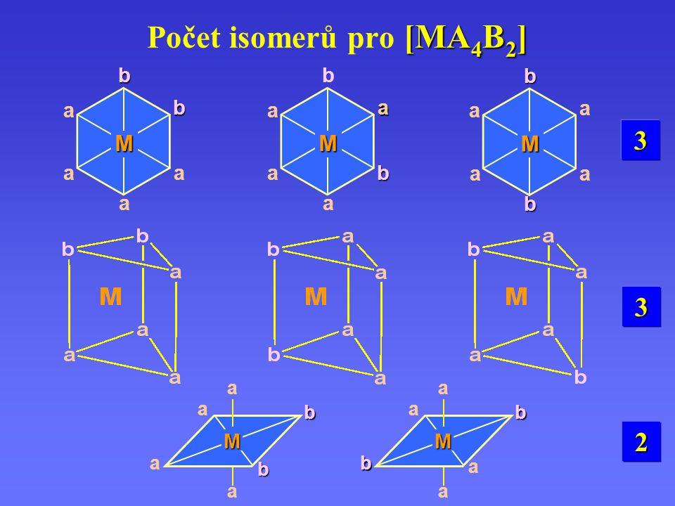 Počet isomerů pro [MA4B2]